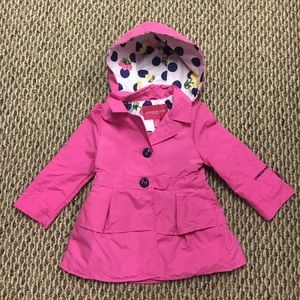 Little girl's hot pink trench/raincoat